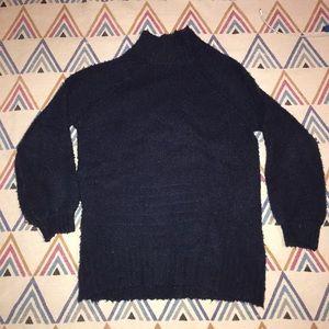 Super Soft Navy Blue Aerie Bell Sleeve Sweater
